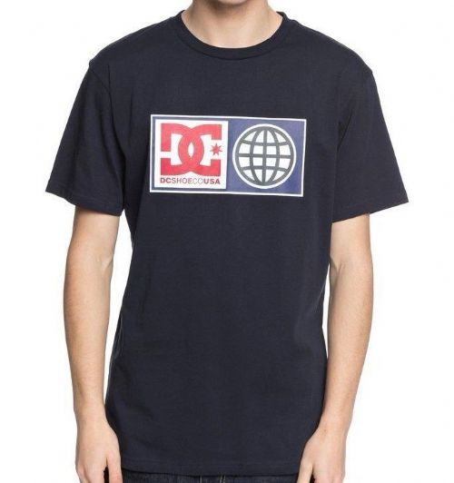 DC SHOES MENS T SHIRT.NEW GLOBAL SALUTE NAVY COTTON SKATE TOP TEE 8S 758 BYJO